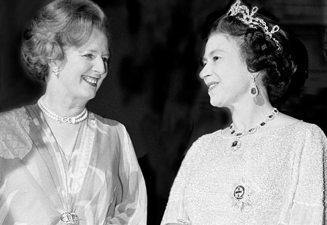 Margaret-Thatcher-regina-elisabetta-II_650x447