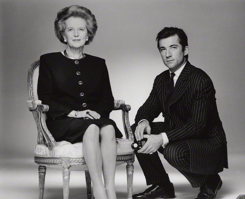 NPG x128527; Margaret Hilda Thatcher (nÈe Roberts), Baroness Thatcher; Fergus Greer by Fergus Greer