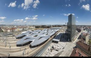 Vienna in treno? Ultimi preparativi per il modernissimo hub ferroviario di Vienna al via dal 10 ottobre 2014.