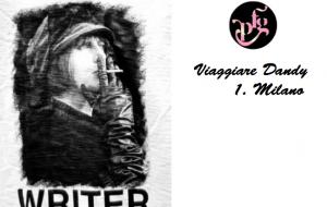 """Viaggiare Dandy 1. Milano Al via la competizione per vincere una giornata Dandy a Milano con la t-shirt """"Writer"""" di VoltiItaliani."""