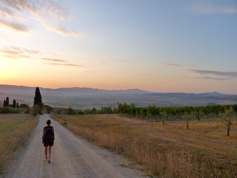 La Via Francigena da San Quirico d'Orcia a Radicofani (foto di Omar Villa)
