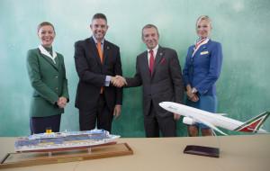 """Costa Crociere con Alitalia: """"FLY & CRUISE"""" in tutto il mondo all'insegna dell'Italianità"""