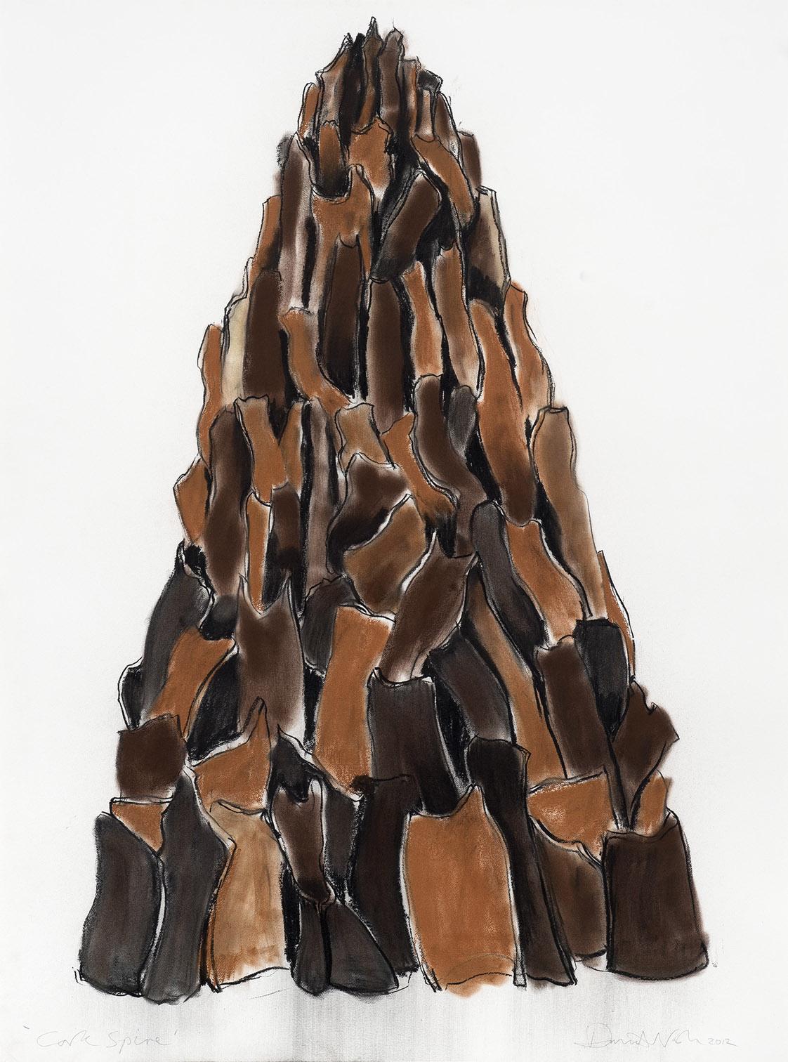 Cork Spire 2012 Pastel et fusain sur papier 150x120 cm