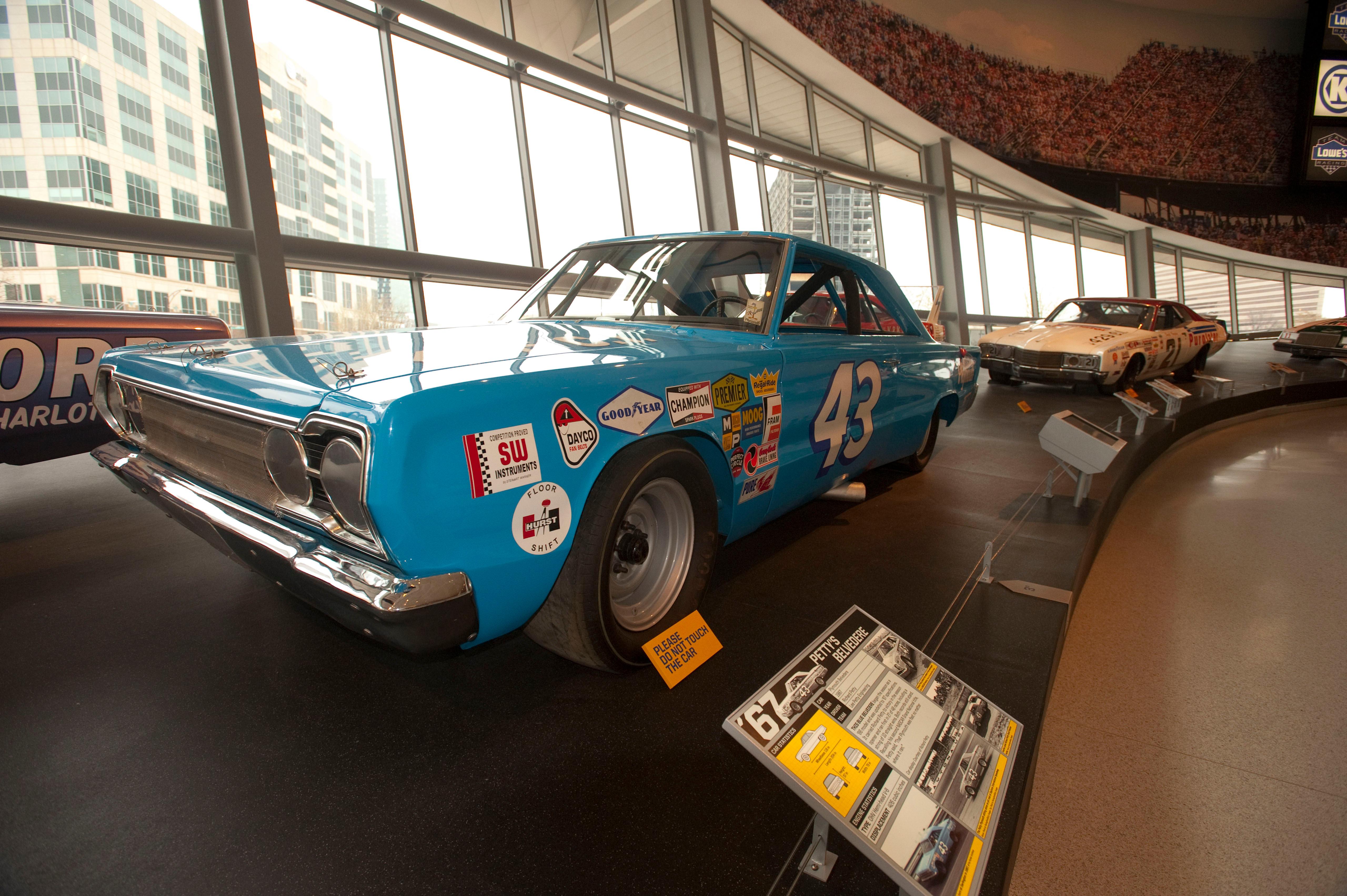 NASCAR Hall of Fame Car Inside