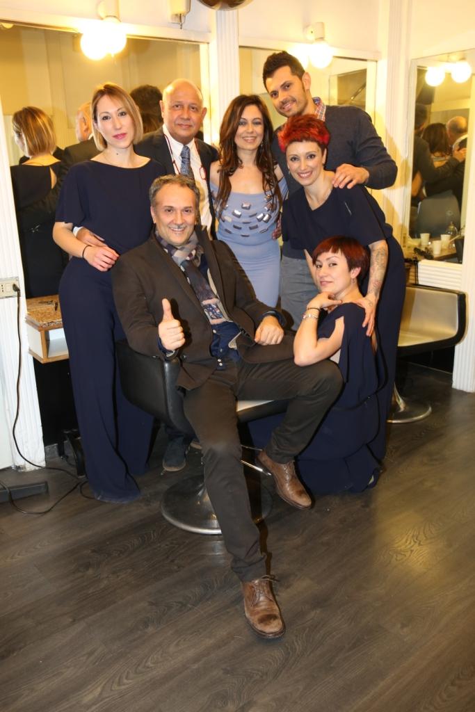 Gerardo di Lella, Salvatore Cialone con lo staff e Deborah Bettega