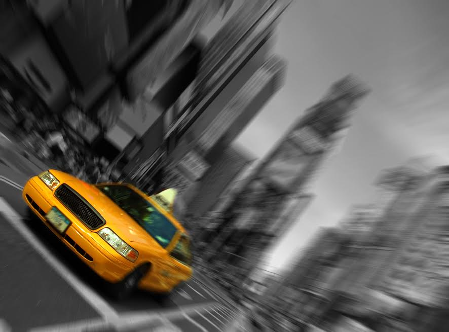 New York City Taxi, Blur, Focus motion, Time